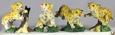 "3"" LEOPARD CUBS - 4 ASSORTED - CUTE BABY LEOPARDS - WILDLIFE LOVERS GIFT - FUN"