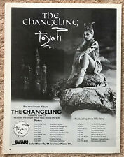 TOYAH - THE CHANGELING / TOUR DATES 1982 Full page UK magazine ad