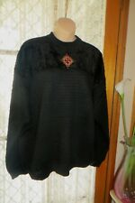VINTAGE 80'S ~ PORTOBELLO'S  ~ GREECE ~ Black JUMPER * Size 26 *