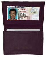Purple Genuine Leather Men's Bifold Wallet 18 Credit Cards ID Holder