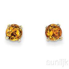 Pendientes de joyería amarillo oro amarillo citrino