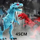 Remote Control Dinosaur Blue RC Walking Animal Electric Spray Dino Roar Kids Toy