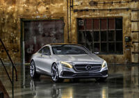 2014 MERCEDES S COUPE NEW A2 CANVAS GICLEE ART PRINT POSTER
