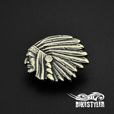 IH) Indian Chieftain Chief Roadmaster Scout Vintage Motorcycle Metal Badge Pin