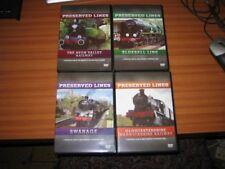 4 PRESERVED LINES RAILWAY DVD BLUEBELL AVON SWANAGE & GLOUCESTERSHIRE WARWICKSHI