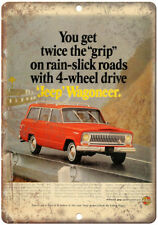 "Jeep Wagoneer Kaiser Jeep Corporation Ad 10"" x 7"" Reproduction Metal Sign A91"