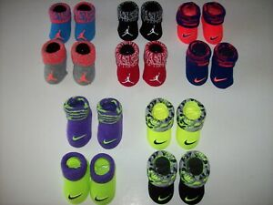 Nike Jordan Jumpman Crib Shoes Booties Socks Baby Infant Swoosh 0-6 Mo New