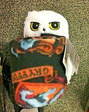 """Harry Potter Hedwig Owl Hugger Set 40"""" X 50"""" Fleece Throw Blanket with Plush"""