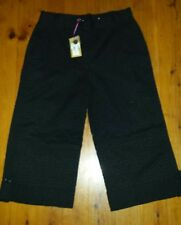 NWT Black Broderie Anglaise 3/4 Pants Size M RRP $159