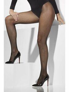 Black Fishnet Tights 20s Flapper Ladies Fancy Dress Halloween Plus Size 16/18/20