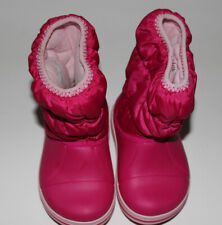New Girls Pink CROCS Rain Boots Size 8