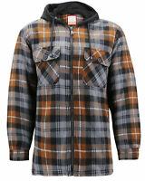 Men's Heavyweight Zip Up Fleece Lined Plaid Sherpa Hoodie Jacket w/ Defects  XL