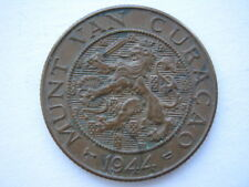 Netherlands Curacao 2 1/2 Cent 1944 EF