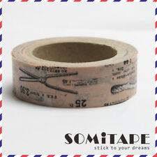 Hairdresser Barbers Style Washi Tape, Craft Decorative Tape