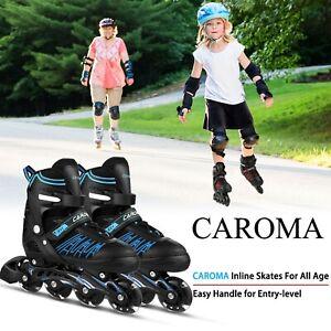 Caroma Inliner Verstellbar Inlineskates Rollschuhe für Kinder/Damen/Herren 31-43