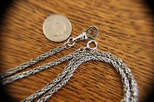 """X 31""""- 22.3 Grams Sterling Rope Watch Chain 1/8"""