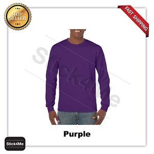 LOT of 5 NEW BLANK  MANS GILDAN LONG Sleeves t shirt Softstyle casual Tee G5400