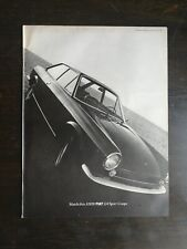 Vintage 1969 Fiat 124 Sport Coupe Full Page Original Ad