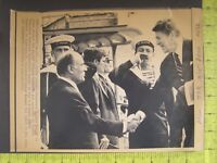 AP Wire Press Photo President Ronald Reagan & French Pres Francois Mitterrand