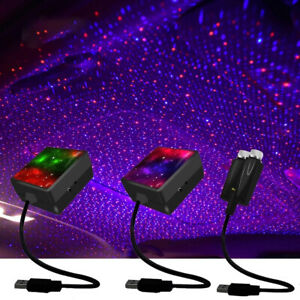 Car Interior Roof LED Star Light USB Atmosphere Starry Sky Night Projector Lamp