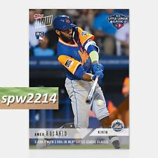 2018 Topps Now Amed Rosario RC #619 3-for-5 with 3 RBI in Little League Classic