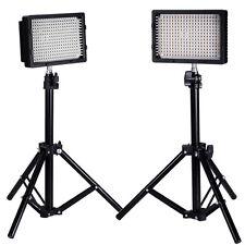 NEEWER 2X PHOTOGRAPHY LED LIGHT CN-304 + LIGHT STAND 80CM