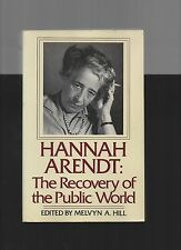 HANNAH ARENDT RECOVERY OF THE PUBLIC WORLD 1979 VG PB SOCIAL SCIENCE PHILOSOPHY