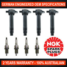 4x Genuine NGK Spark Plugs & 4x Ignition Coils for Dodge Caliber PM Jeep Compass