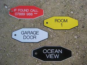 Engraved - Key Fobs Hotel, If Found, Locker, House, B&B, Shops, Pubs
