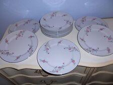 "12 ARLEN FINE CHINA Cathay Flora & Silver Trim 10 1/4"" Dinner Plates 1476 Japan"