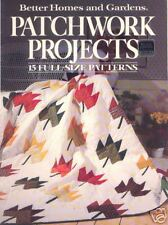 PATCHWORK PROJECTS ~ BH&G ~ 15 Full-Size Patterns