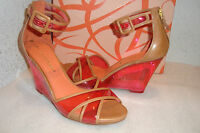 Via Spiga Womens NWB Biana Pink Wedge Sandals Shoes 6 MED NEW
