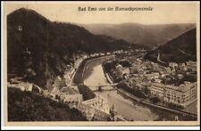 1934 Bad Ems sello en ak Renania-Palatinado mirada de la Bismarck Promenade