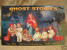 Ghost Stories Tin Metal Sign HALLOWEEN OCT 30 Pumpkins