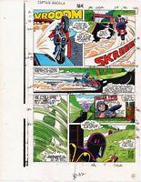 1986 Captain America 324 page 15 Marvel Comics original color guide art: 1980's