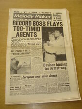 MELODY MAKER 1958 NOVEMBER 15 ELVIS PRESLEY TOMMY SANDS LOUIS ARMSTRONG +