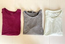 Athleta Sunlover Muscle Tank Tops Lot Open Split Back Medium Gray Pink Mint 3