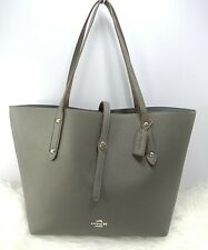 Coach Market Pebbled Leather Shoulder Tote Bag-DARK GUNMETAL