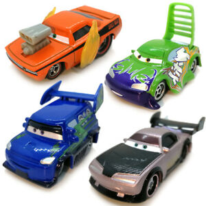 4pcs Set Disney Pixar Cars Boost DJ Wingo Snot-Rod 1:55 Diecast Gift For Kid Boy