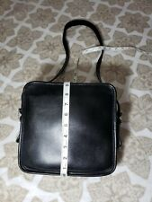 COACH VINTAGE LEGACY SQUARE NORTH SOUTH BLACK CROSSBODY LEATHER BAG 9168