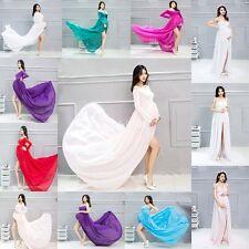 Mixed Chiffon Maternity Photography Props Long Pregnancy Dress Pregnant Clothes
