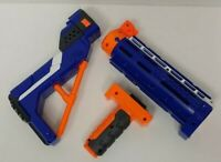 Nerf N-Strike Spectre Barrel Extension  Blue Shoulder Stock Lot of 3 Accessories
