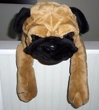 "GIANT/HUGE/JUMBO PUG plush stuffed Puppy Dog Brown Black TOY FACTORY 31"""