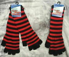 Choix de Couleurs Noir Crâne Crossbones longues à rayures Mitaines Magic Gloves FLIRT