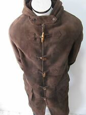 Ralph Lauren Polo Suede Shearling Full Length Toggle Coat Jacket Sz M Nwt $5495