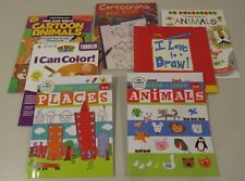 Lot of 7 Drawing Books, Draw & Learn Animals, Places, Cartoon, Emberley