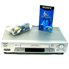 SONY SLV-N81 VCR VHS 4 Head HiFi Stereo Video Cassette Recorder Player - Tested
