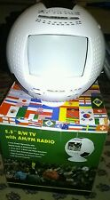 B/W TV with AM/FM Radio