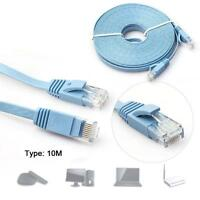 1M to 10M New CAT6 CAT 6 Flat UTP Ethernet Network Cable RJ45 Patch LAN Cord GA