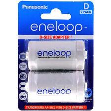 Panasonic Eneloop Adapter AA R6 nach D R20 für 1xAA 2er Blister BQ-BS1E/2E